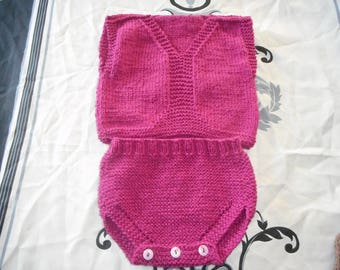 hand knitted baby jacket set