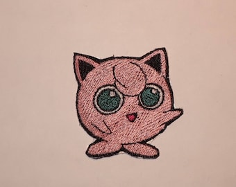 Jiggly Puff Pokemon Nintendo Embroidery Embroidered Iron On Patch