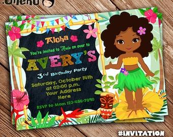 SALE 50% OFF Luau Hawaiian Birthday Invitation - Aloha - Luau Invitation - Girl Invitation - Hawaiian - Hawaiian Theme -