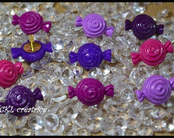 Set of 10 assorted fimo pins