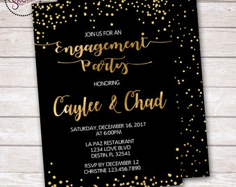 Engagement Party Invitation DIGITAL OR PRINTED