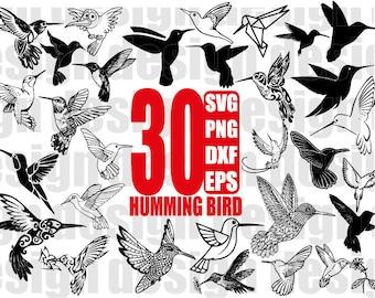 HUMMINGBIRD SVG, humming bird svg file, flying bird svg, bird svg file, bird silhouette, wildlife, clipart, stencil decal, cut files, cricut