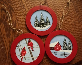 Get a Christmas Ornament , 3 styles to choose from or have one made special.
