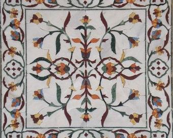 Floral Square Tile - Calanthe