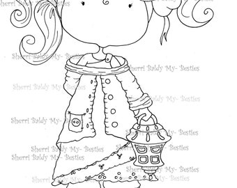 INSTANT DOWNLOAD Digital Digi Stamps Big Eye Big Head Dolls img117  My Little Dimples My Besties Pals  By Sherri Baldy