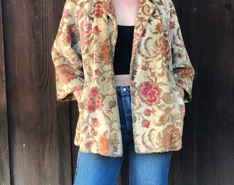 The Future is Floral 1960's Tapestry Coat