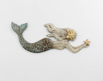 Mermaid Wall Art,Mermaid Wall Decor,Mermaid Gift,Mermaid Nursery Decor, Mermaid Bathroom,Beach Bathroom