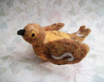 Needle Felted Bird, Handmade Wool Bird, Bird Figure, FeltWithAHeart