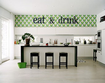 Eat And Drink, Eat And Drink Wooden Letters, Kitchen Decor, Home Decor,