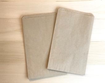 100 Favor Bags / Treat Bags / Kraft Bags / Brown Bags / Paper Bags / Wedding Favor / Cookie Bags / Wedding Candy Bag / Wedding Favor Bag