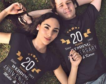 Personalized Mr and Mrs Anniversary Shirts - Wedding Shirts