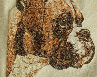Boxer Dog Embroidered hand towel perfect gift for dog lovers