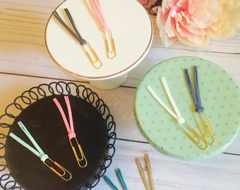 Paperclip Tassels (set of two) ~ Planner Clip ~ Bookmark ~ Page Marker ~ Stationery