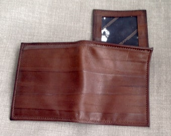 Vintag Amity fold out Brown Leather Wallet