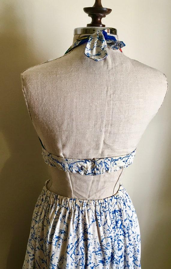 Halter Maxi pc y Vintage amp; 2 1960s OC Skirt Versellino Small waist 26