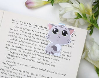 Sweet Kitten - Magnetic bookmark || cat, happy planner, literary gift, paper clips, book lover, planner bookmark, cute, planner clips