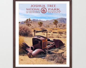 Joshua Tree National Park - Joshua Tree National Park Poster - National Park Art - WPA - WPA Poster  WPA Art - Joshua Tree Art - Desert Art