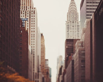 "Chrysler Building, New York Photography, NYC Print, New York City Wall Art, New York Print, Autumn in NYC ""Fall On 42nd Street"""