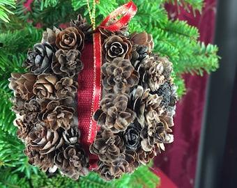 "3 1/2"" Pine Cone Christmas Ornament, Christmas Decoration, Pine Cone Ornament, Christmas Gift"