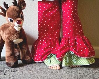 Opal's Peekaboo Ruffle Pants PDF Pattern - Sizes 0-6m to girls 8