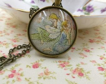 Fairy Charm, Fairy Pendant, Fairy Gift, Fairy Jewelry, Fairy, Fairy Necklace, Fantasy Necklace, Large Fairy Pendant, Fairy Tale Necklace