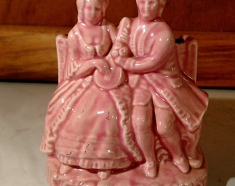 Vintage Pink Courting Couple