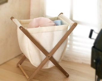 Laundry basket, scale 1:12. Making handmade .