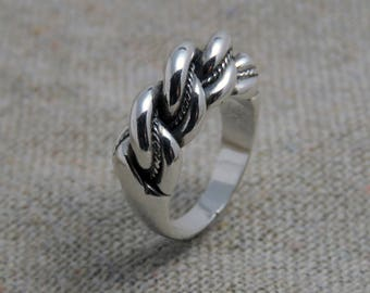 Namejs ring, silver ring for men, Latvian ethnic ring, Baltic jewelry, Latvian jewelry, braided ring, ethnic ring for men, men's ring Latvia