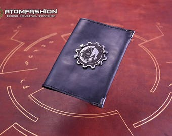 Adeptus Mechanicus leather passport cover inspired by Warhammer 40000