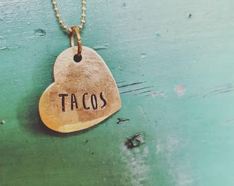 Taco Love Necklace