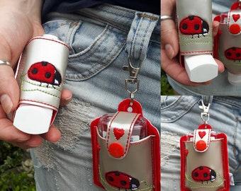 Inhaler Holder, Hand Sanitiser Holder, Matching Set, Anti Bacterial Hand Gel, Sanitizer Holder, Inhaler Holder, Clip on, Bag Tidy, Sanitise