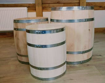 Brand New Storage Barrel - Strong Steel Bands. Limewood