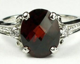 Mozambique Garnet, 925 Sterling Silver Ring, SR136