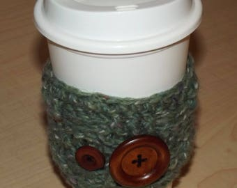 Pair of Buttons Coffee Cup Cozy