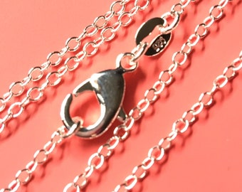 22 inch .925 sterling silver link chain lightweight necklace Perfect for my pendants