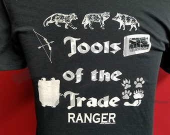 Tools of the Trade - Ranger - RPG - Tabletop Gamer Hand Printed Tee