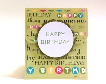 Happy Birthday Gift Card Holder - Money Envelope - Money Holder - Gift Card Envelope - Birthday Gift Card - Gift Card Carrier