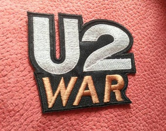 U2 , war vintage 80s embroidered patch, Iron on .