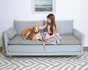 Wool Grey, Sofa Topper, Stylish Waterproof, Home Decor, Washable, Pet Cushion, Couch Cover