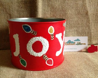 Christmas Joy Tin Can