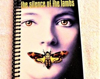 Silence of the Lambs, VHS Film Box, Handmade, VHS Upcycled Notebook, Journal