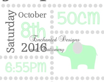 Baby Wall Art- Elephant