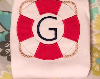 Life Preserver Applique Shirt