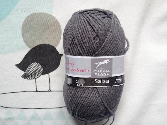 WOOL SALSA ash - white horse
