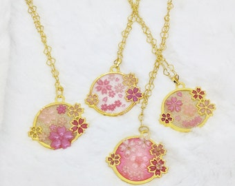 Sakura Matsuri Blossom Pond Pendants