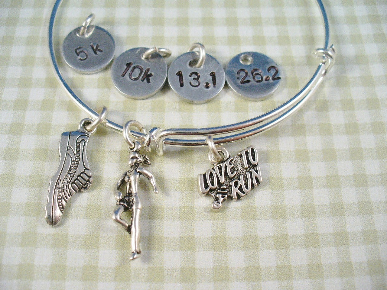 steel bangles bracelet initials bracelets products bangle monogram stainless childrens img mom s children with charm