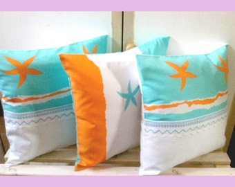 Decorative pillowcase,3 pieces,handmade,home decor, designer,shabby chic,sewn,gift,paris,kitchen decoration