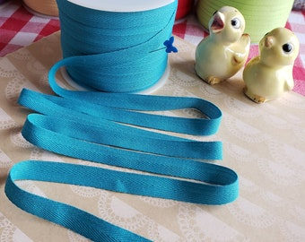 """TEAL Twill Tape Trim - Polyester - Sewing Bunting Shipping Packaging - 1/2"""" Wide - 10 Yards"""