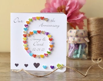 Th anniversary card etsy