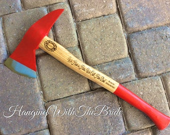 Personalized Fireman's Hatchet, Fireman gift, Personalized Axe, Gift for Men, Father of the Bride Gift, Anniversary Gift, Fireman's gift